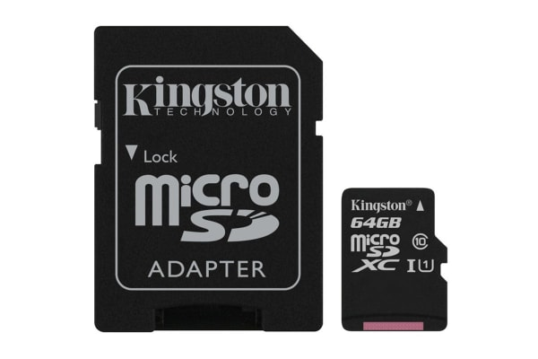 Kingston 64GB microSDHC Canvas Select 80Mb/s CL10 UHS-I Card with SD Adapter