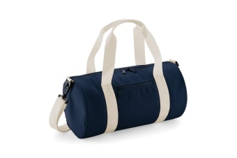 Bagbase Mini Barrel Bag (French Navy/Off White)