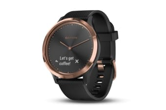 Garmin Vivomove HR (Black with Rose Gold Hardware)