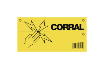 Corral Electric Fence Warning Sign (May Vary)