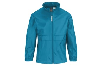 B&C Childrens Sirocco Lightweight Jacket / Childrens Jackets (Atoll) (7/8)