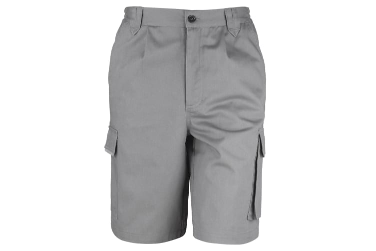 Result Unisex Work-Guard Action Shorts / Workwear (Grey) (L)