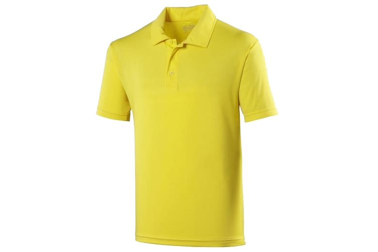 Just Cool Kids Unisex Sports Polo Plain Shirt (Pack of 2) (Sun Yellow) (5-6 Years)