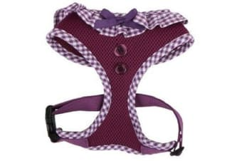 Puppia Gingham Harness Purple - Large