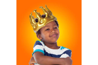 Novelty Gold Inflatable Party Prince Crown