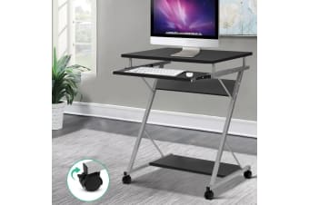 Artiss White Office Computer Desk Study Metal Student Table Pull-Out Tray Mobile
