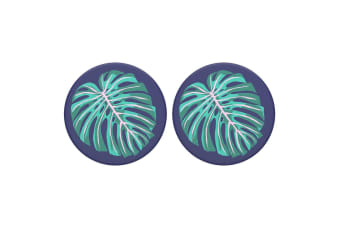 2PK PopSockets Vintage Palm Leaf Swappable Top f/ Pop Socket Base Grip/PopGrip