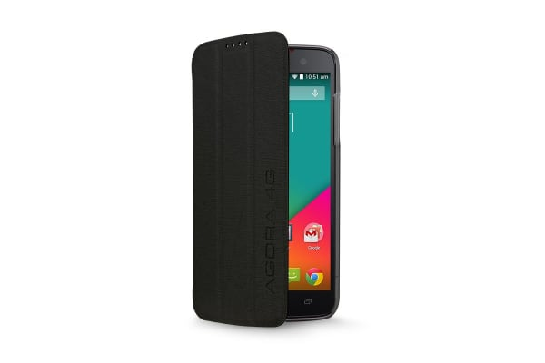Flip Case for Kogan Agora 4G/4G+ Smartphone (Black)