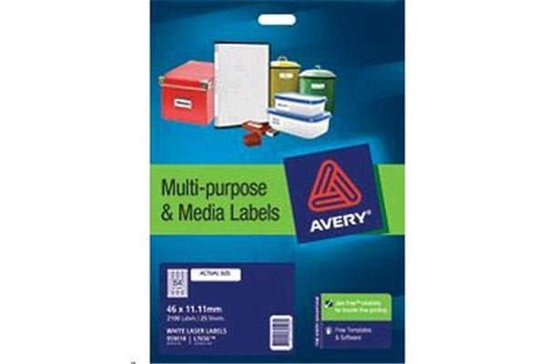 AVERY 35MM SLIDE LABEL L7656 25 SHEET