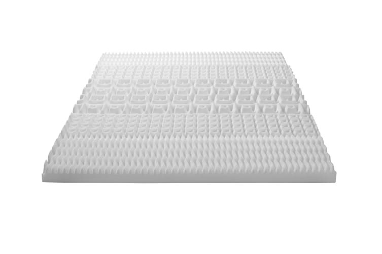 Dreamaker 8cm 5 Zone Memory Foam Underlay with Removable Bamboo Cover King Single Bed