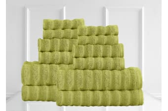 Renee Taylor Maison 600GSM 12 Piece Towel Set 100% Egyptian Cotton Luxury Towels - Spearmint
