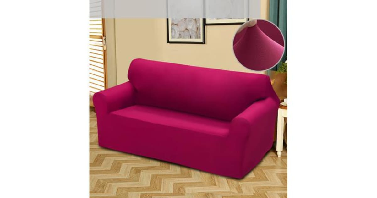 Easy Fit Stretch 2 Seater Couch Sofa Slipcover Protector
