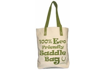 Moorland Rider Horsey Girl Shopper Bag (Green) (38cm x 40cm x 10cm)