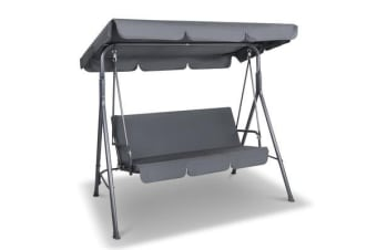 Gardeon Swing Chair with Canopy (Grey)