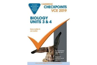Cambridge Checkpoints VCE Biology Units 3 and 4 2019 and QuizMeMore