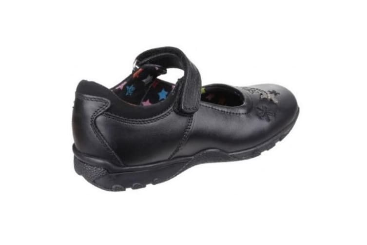 Hush Puppies Childrens Girls Clare Senior Back To School Shoe (Black) (3 UK)