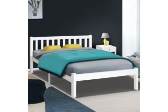 Artiss Double Full Size Wooden Bed Frame SOFIE Pine Timber Mattress Base Bedroom