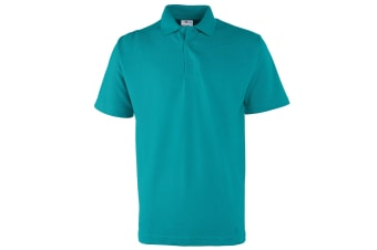 RTXtra Mens Pique Knit Classic Polo Shirt (Turquoise)