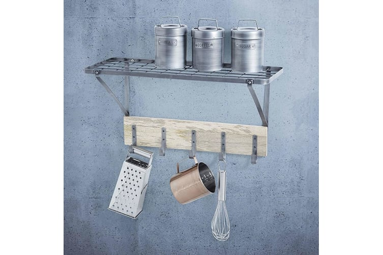 Kitchen Craft Wall Mount Shelf Kitchen Rack Pot Utensil Cookware Hanging Storage