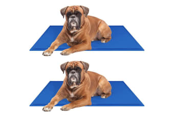 2PK Paws & Claws 90cm Pet Comfort Cooling Gel Mat/Pad/Cushion for Dogs/Cats/Pets