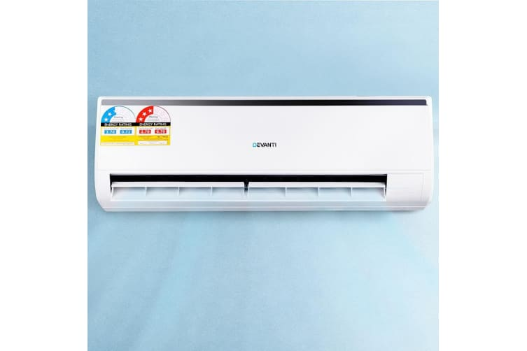 Devanti Split System Air Conditioner Reverse Cycle 2.7KW Cooler Heater Wall Fan