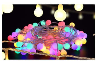 100 LED Ball Bulb String Lights Multi-Colour