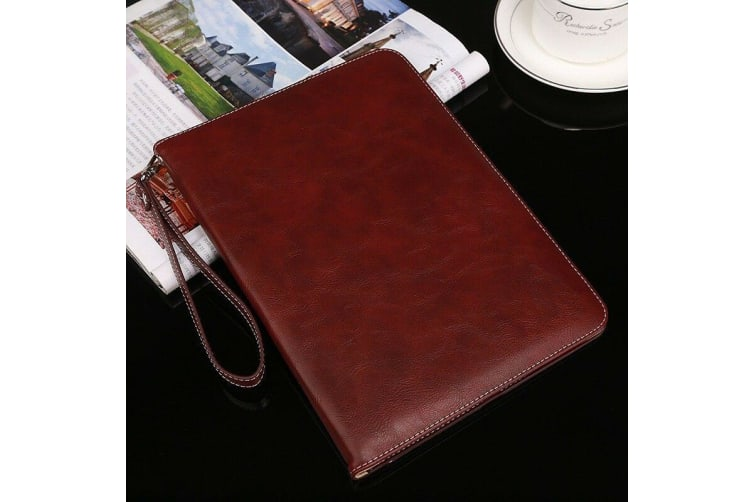 Genuine Luxury Leather Case Cover for Apple iPad Pro 9.7-RoseRed