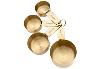 Ladelle Lawson Gold Coloured Stainless Steel Measuring Cups Set 4