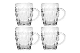 4pc Lemon & Lime 530ml Pint Beer/Alcohol Mugs/Glasses Barware Glass/Drink Clear