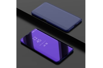 Mirror Cover Electroplate Clear Smart Kickstand For Oppo Series Purple Oppo A83