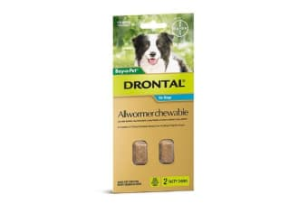 Drontal Allwormer Chews for Medium Dogs - 20p