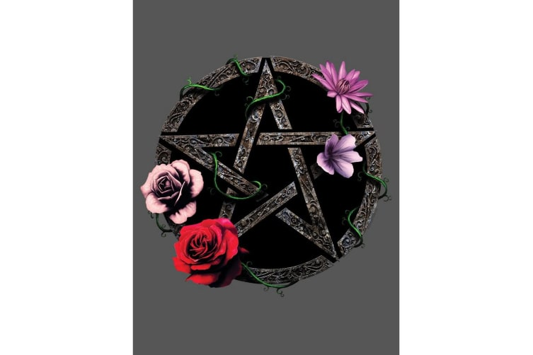 Grindstore Requiem Collective Floral Pentagram Tote Bag (Grey) (One Size)