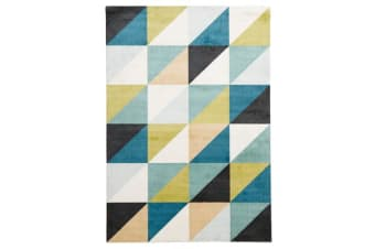 Stunning Matrix Rug Blue Green