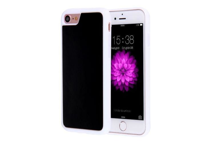 For iPhone 8 7 Case Stylish Stick-on High-Quality Durable Protective Cover White