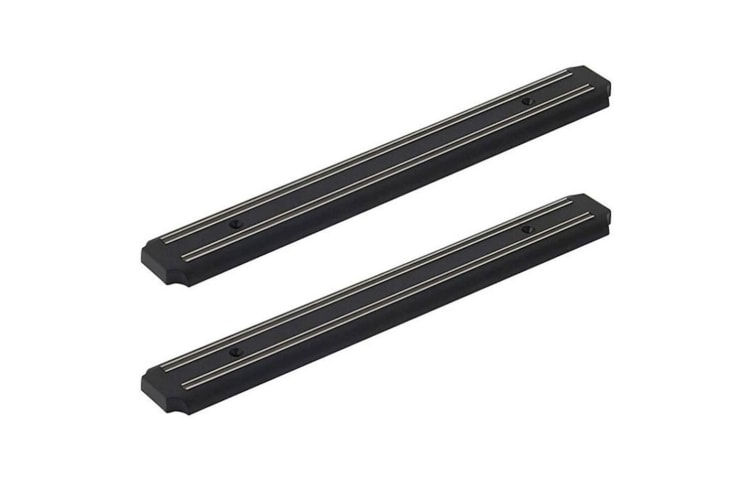 2PK MasterPro 38cm Magnetic Knife Rack Block Holder Steel for Knives Knife Black