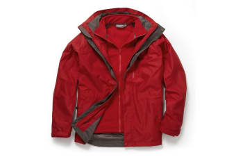 Craghoppers Mens Expert Kiwi 3 In 1 Waterproof Jacket (Red/Red) (S)