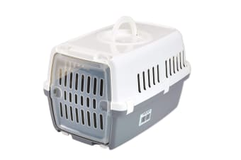 Savic Zephos 1 Plastic Door Pet Carrier (Grey/White)
