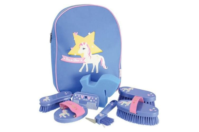 Little Rider Star In Show Complete Grooming Kit Rucksack (Regatta Blue) (One Size)