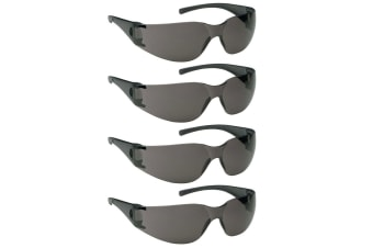 4PK Jackson Safety Glasses V10 Element Lens Smoke/Black UVA/UVB Eye Protection