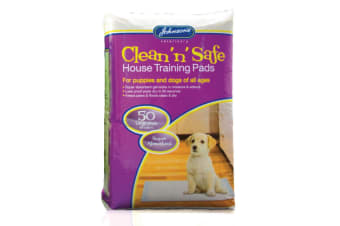 Johnsons Veterinary Clean N Safe Dog House Training Pads (Pack Of 50) (Multicoloured) (One Size)