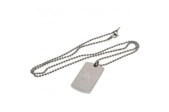 Rangers FC Engraved Dog Tag And Chain (Silver)