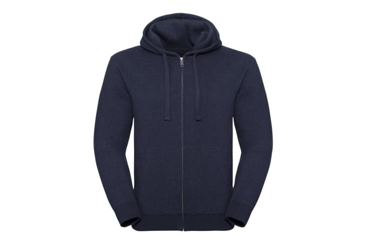 Russell Mens Authentic Melange Zip Hoodie (Indigo Melange) (L)