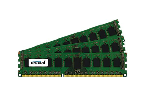 Crucial 12GB Kit (3x4GB) DDR3 1600 MT/s (PC3-12800) CL11 Unbuffered ECC UDIMM 240pin 1.35V/1.5V (4Gb 9 chip)