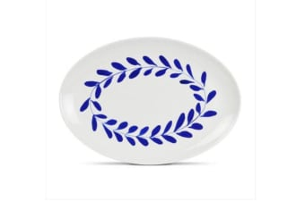 Robert Gordon Indigo Wreath Oval Platter 30cm