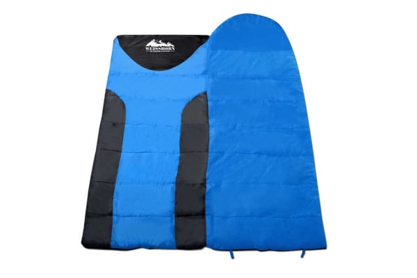 Camping Double Sleeping Bag  -15 to 10 (Blue/Black)