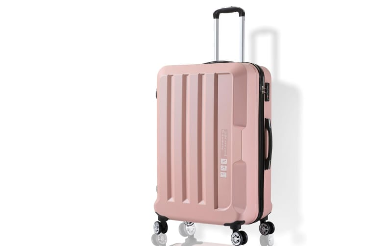 """Luggage TSA Hard Case Suitcase Travel Lightweight Trolley Carry on Bag Pink 20"""""""
