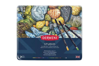 DERWENT STUDIO PENCILS 3.5MM TIN 24
