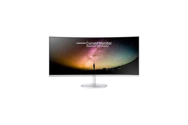 SAMSUNG 34IN 30DEG CURVE IMMERSION QUANTUM DOT 125% SRGB VA 100 HZ 3 000:1(TYP.)CONTRAST RATIO 300NIT 21:9 3440X1440 4MS DP PORT HDMI STEREO SPEAKERS