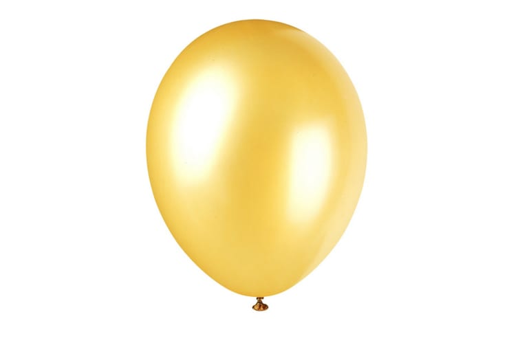 Unique Party 12 Inch Pearlised Latex Balloons (Pack Of 8) (Gold Champagne) (12in)