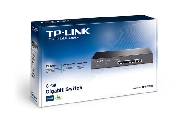 TP-LINK 8-port Gigabit Switch 8 10/100/1000M RJ45 ports (TL-SG1008)